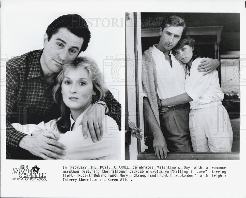 Press Photo Robert Deniro Meryl Streep and Thierry Lhermitte Karen Allen - Historic Images