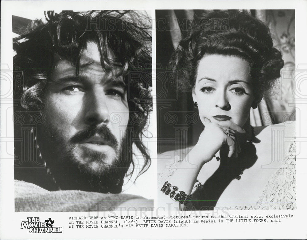 Press Photo Richard Geere and Bette Davis - Historic Images