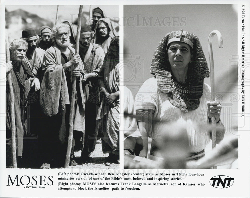 1995 Press Photo Ben Kingsley Frank Langella in The movie Moses - Historic Images