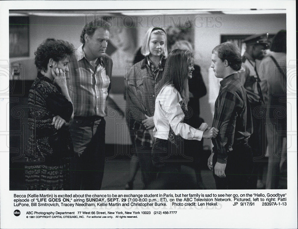1991 Press Photo Actress Kellie Martin in ABC's Life Goes On - Historic Images