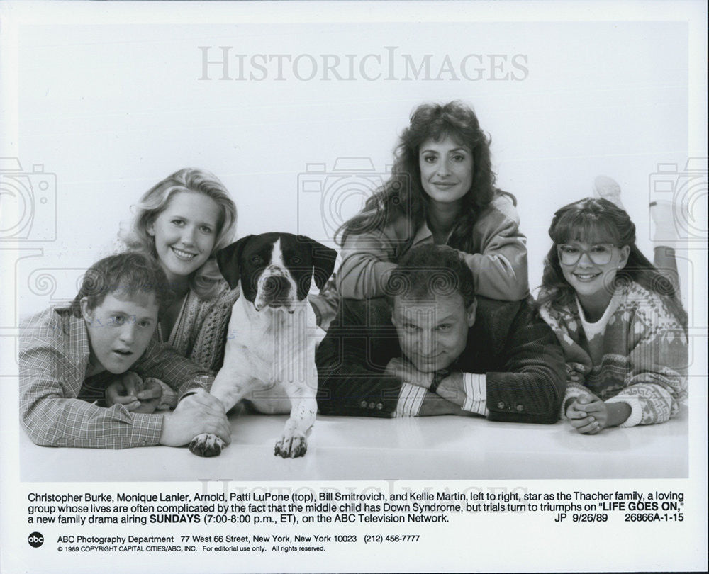 1989 Press Photo Actor Christopher Burke, Monique Lanier, Patti LuPone - Historic Images