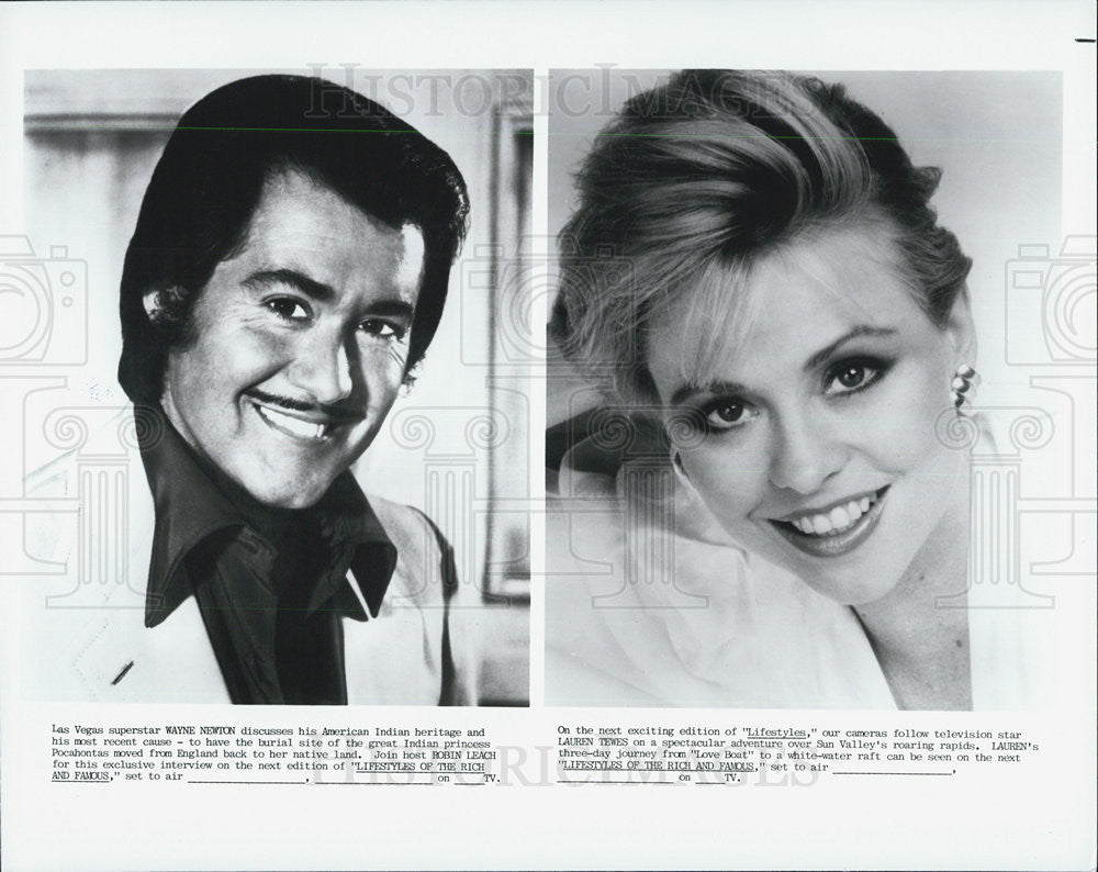 "Press Photo Wayne Newton on ""Lifestyles of the Rich & Famous"" - Historic Images"