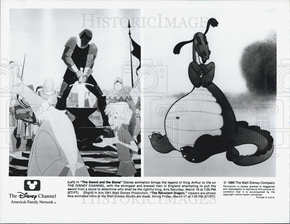 "1989 Press Photo ""The Sword & The Stone"" - Historic Images"