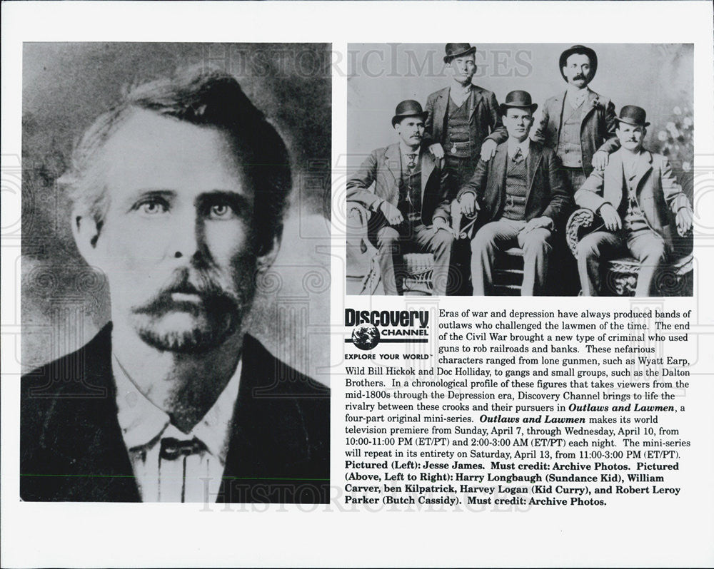 "Press Photo Cast of ""Outlaws & Lawmen"" - Historic Images"