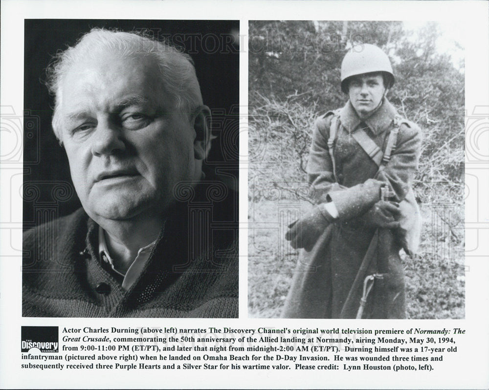 Press Photo NORMANDY THE GREAT CRUSADE Charles Durning - Historic Images