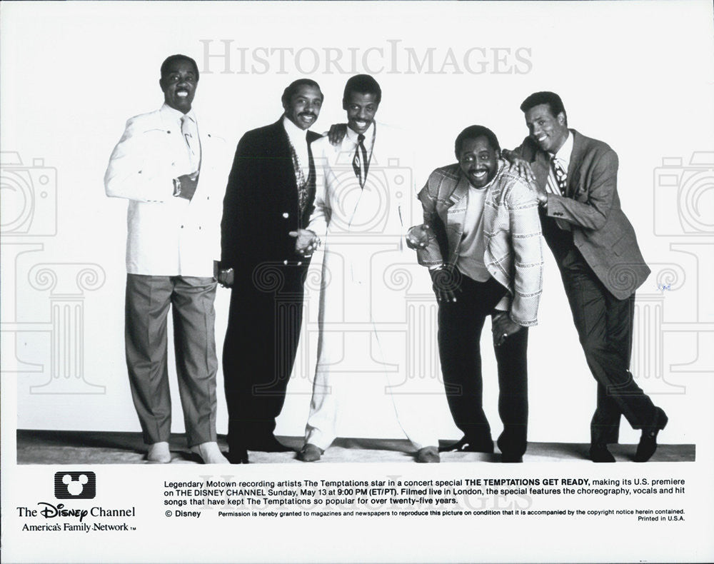 "Press Photo The Temptations in ""The Temptations Get Ready"" - Historic Images"