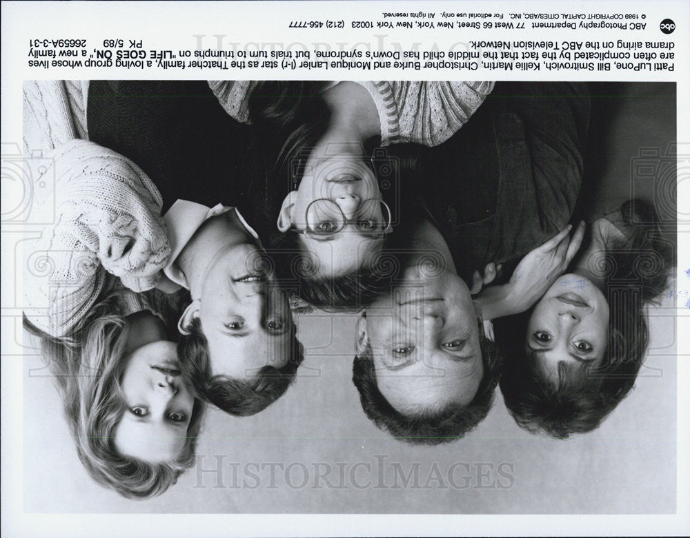 "1989 Press Photo Cast of ""Life Goes On"" - Historic Images"