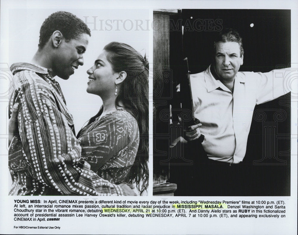 Press Photo Denzel Washington Sarita Choudhury MISSISSIPPI MASALA - Historic Images
