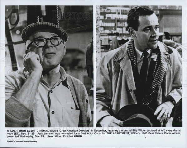 1960 Press Photo Billy Wilder Jack Lemmon The Apartment - Historic Images