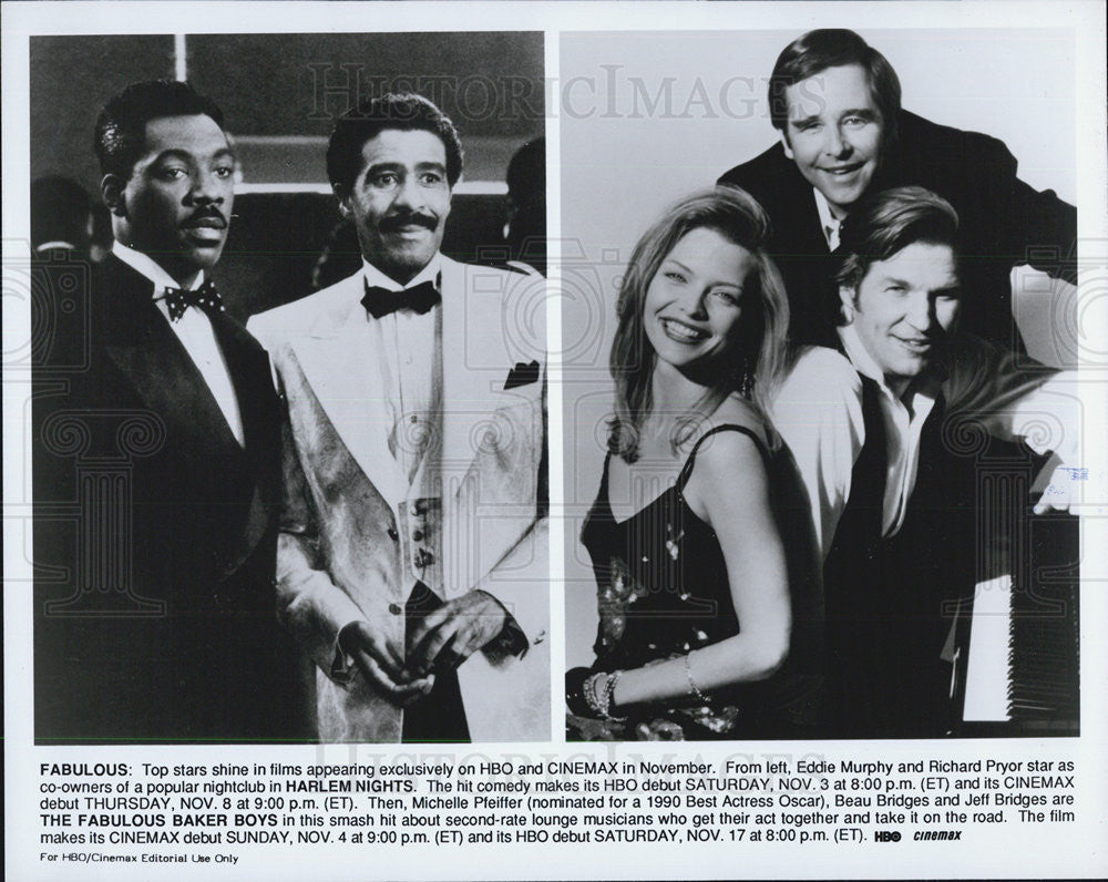 Press Photo Stars Appearing in HBO & Cinemax Movies - Historic Images