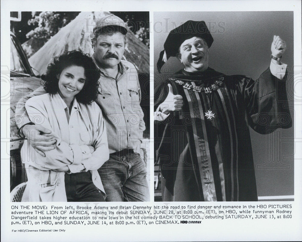 1988 Press Photo The Lion of Africa Brooke Adams Brian Dennehy Back to School - Historic Images
