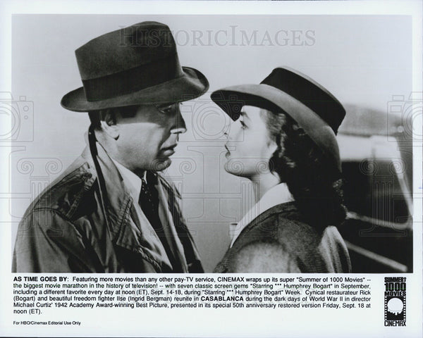 1942 Press Photo Casablanca Humphrey Bogart Ingrid Bergman - Historic Images
