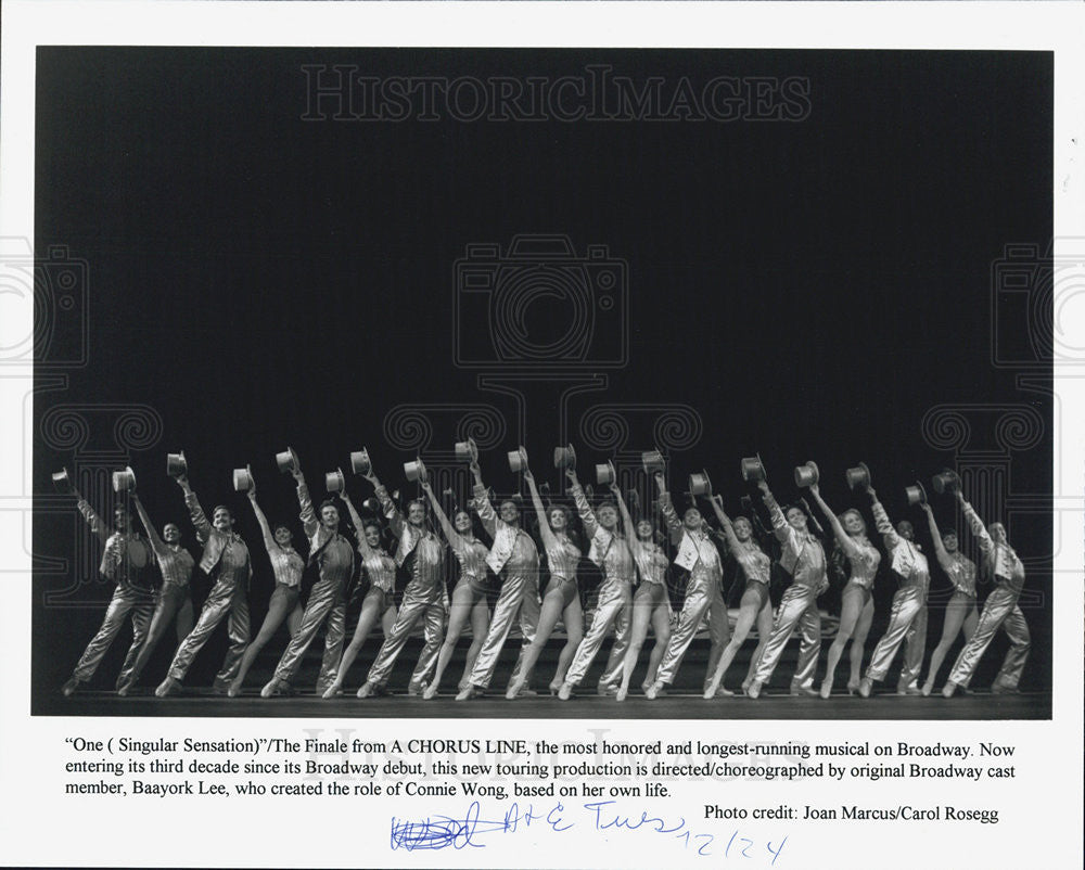 Press Photo One A Chorus Line directed Baayork Lee - Historic Images