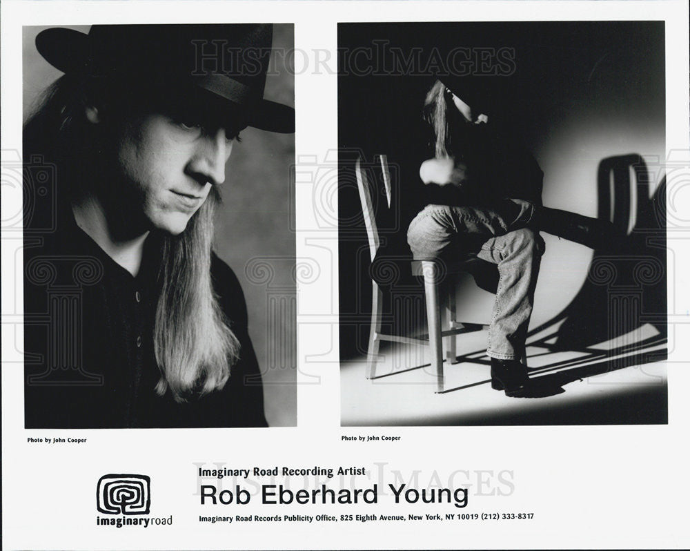 Press Photo Rob Eberhard Young recording artist - Historic Images