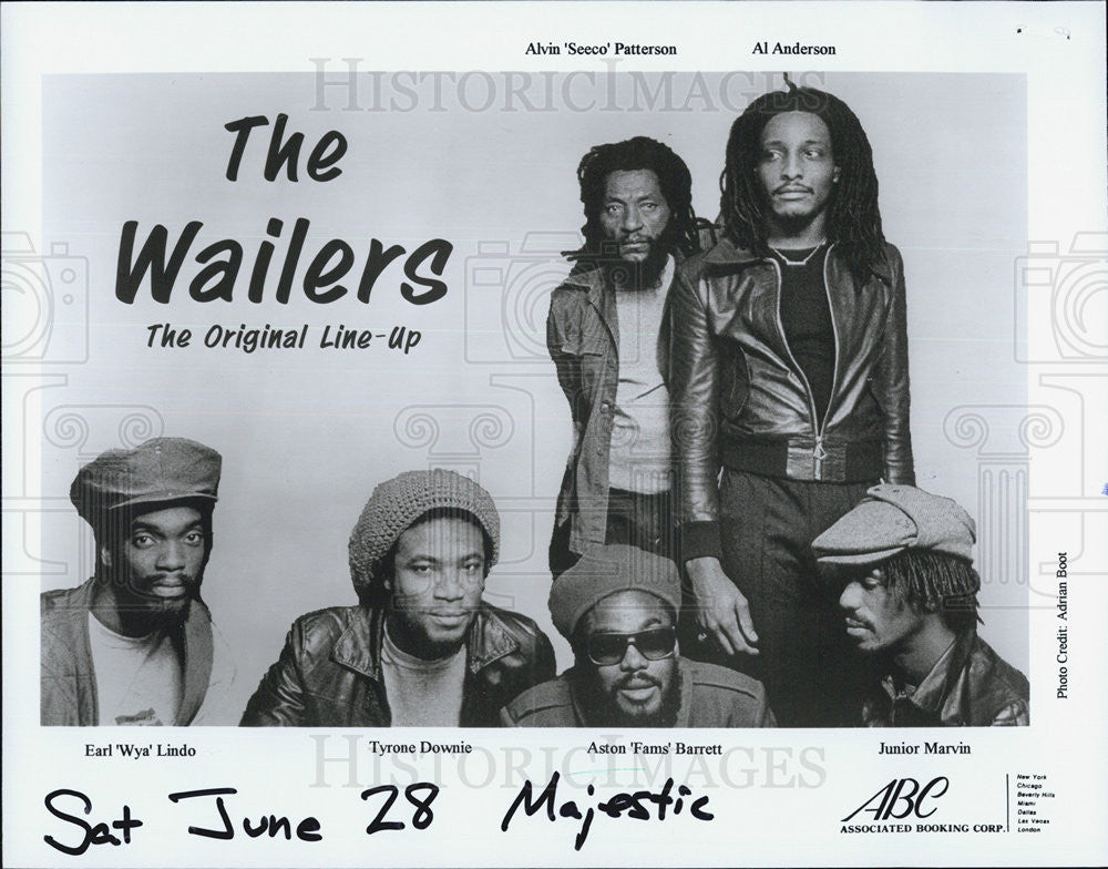 Press Photo The Wailers Lindo Dowaie Barrett Marvin Patterson Anderson - Historic Images