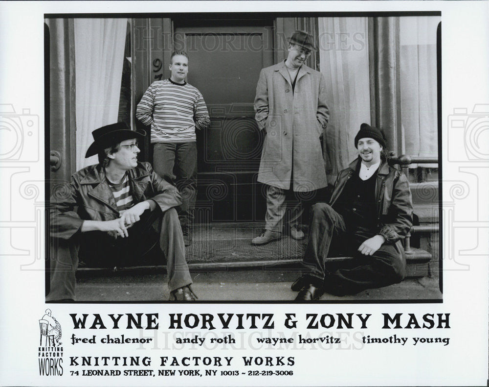 Press Photo Wayne Horvitz & Zony Mash Fred Chalenor Andy Roth Timothy Young - Historic Images