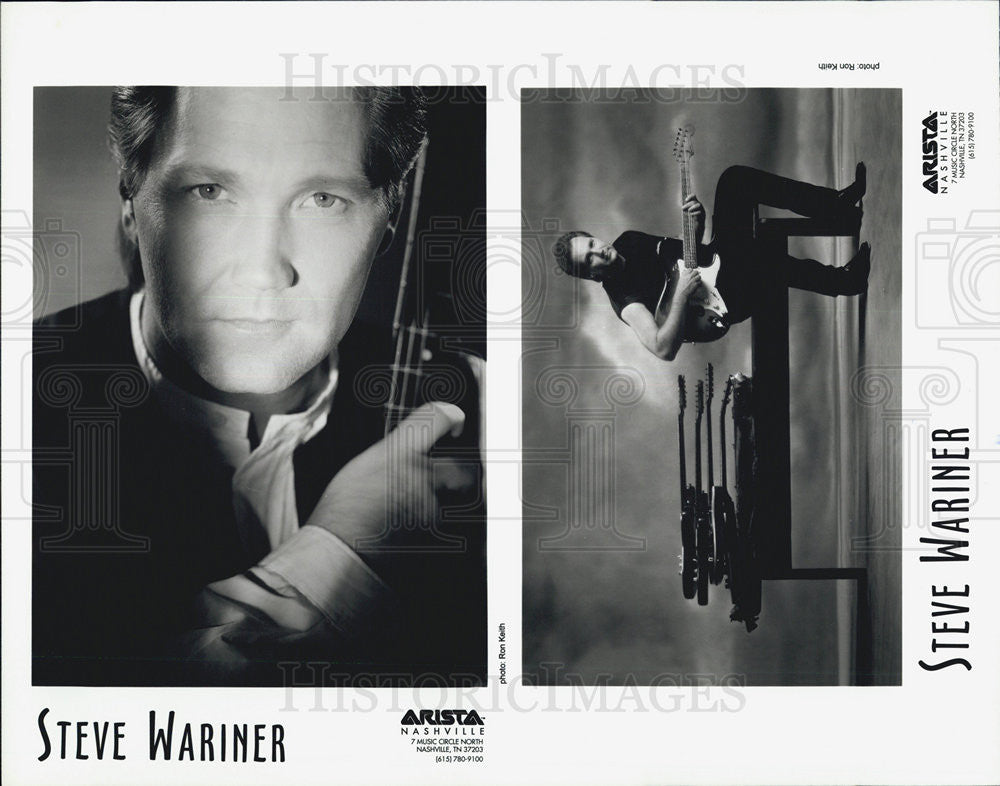 Press Photo Steve Wariner guitar - Historic Images