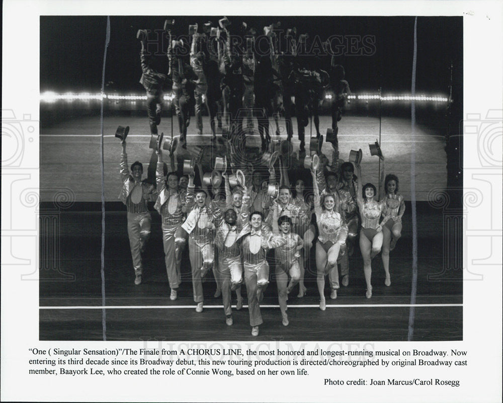 "Press Photo ""A Chorus Line"" - Historic Images"