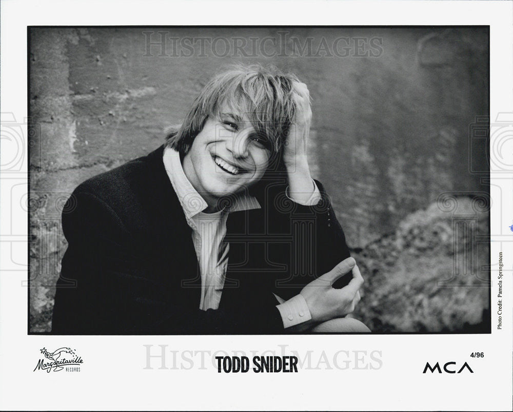 Press Photo Todd Snider - Historic Images