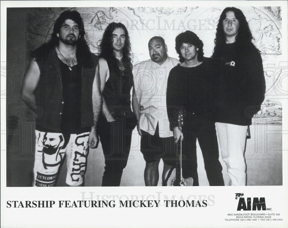 Press Photo American Rock Musical Group Starship Featuring Mickey Thomas - Historic Images