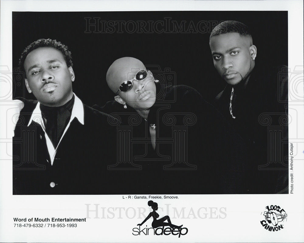 Press Photo Skin Deep Gangsta Freekie Smoove Musicians Entertainers - Historic Images