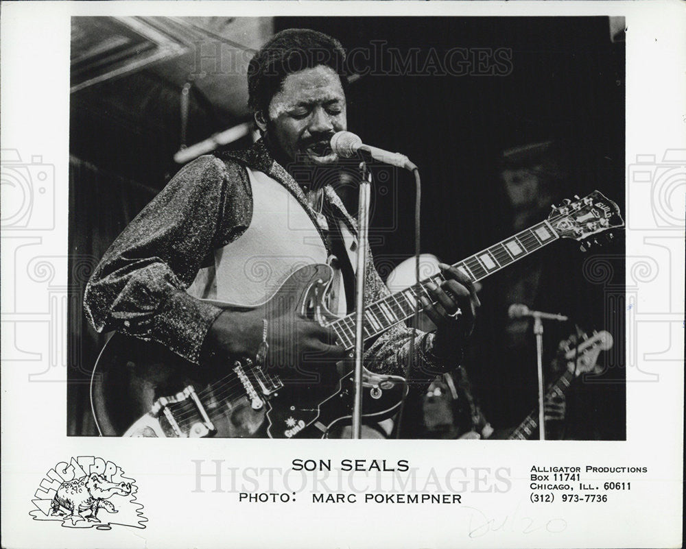 Press Photo Singer Musician Entertainer Son Seals - Historic Images