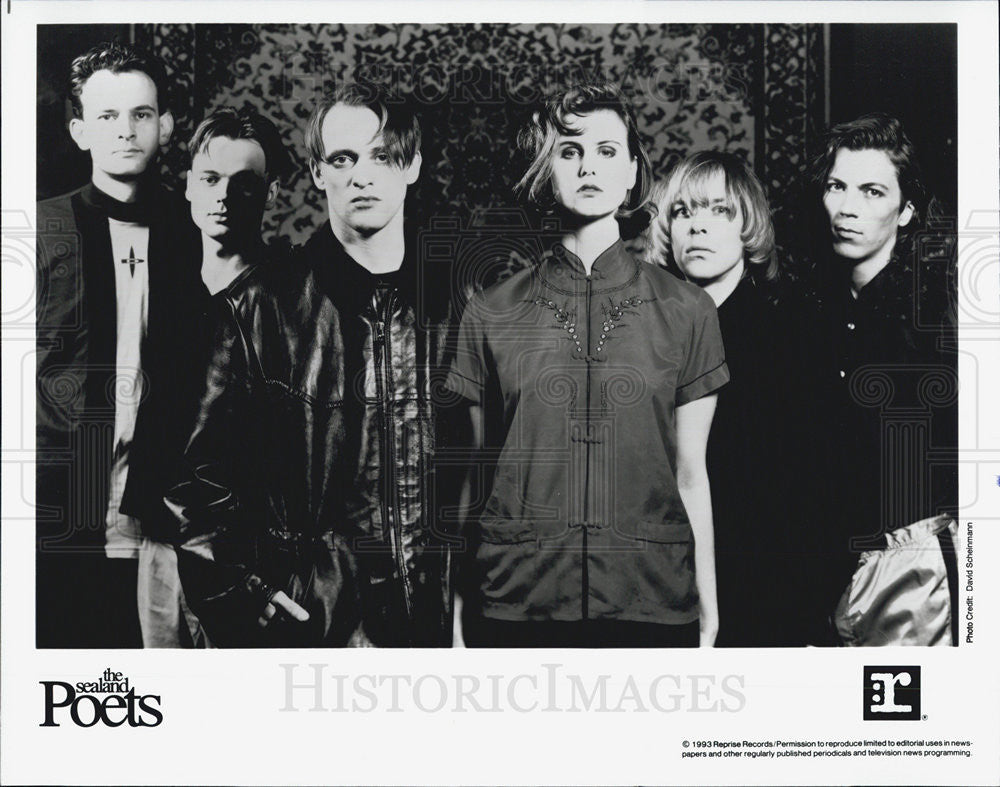 1993 Press Photo The Sealand Poets Musicians Recording Artist entertainers - Historic Images