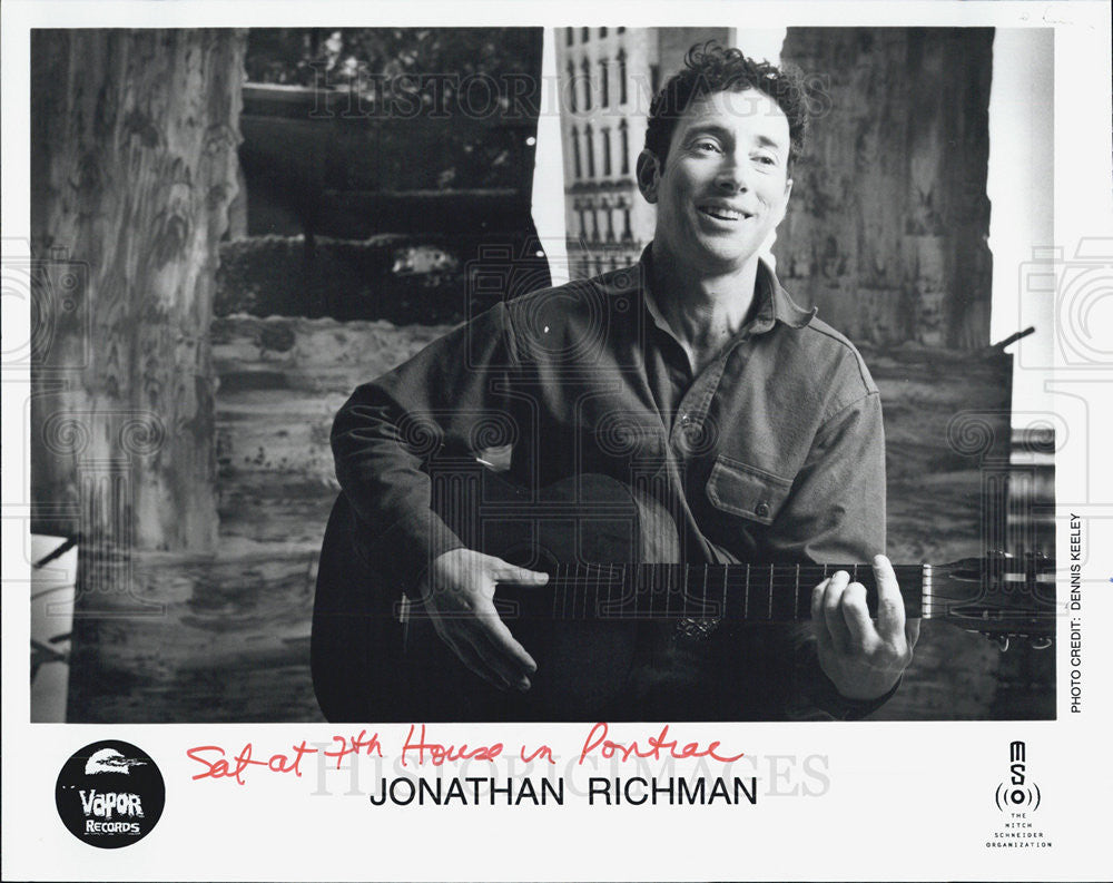 Press Photo Jonathan Richman Rock New Wave Music Guitarist For Vapor Records - Historic Images