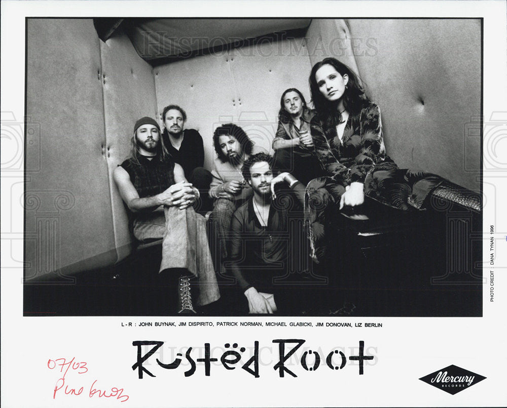 Press Photo Rusted Root John Buynak Jim Dispirito Patrick Norman Micael Galbicki - Historic Images