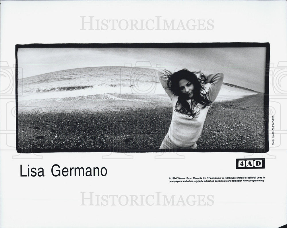 1996 Press Photo Lisa Germano Singer Musician - Historic Images