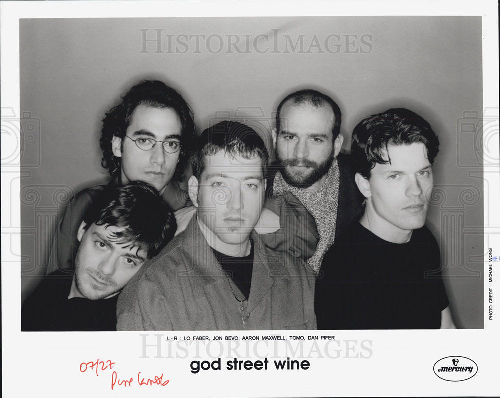 Press Photo Musical Group God Street Wine Lo Faber Jon Bevo Aaron Maxwell Tomo - Historic Images
