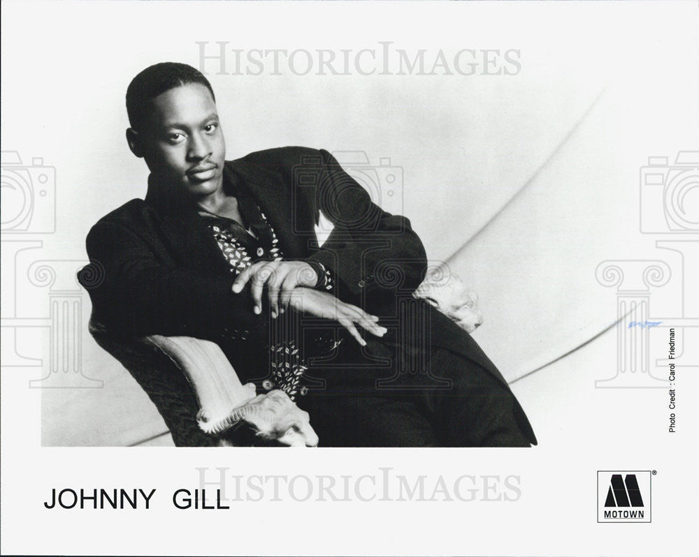 Press Photo Johnny Gill Musician BAnd singer - Historic Images