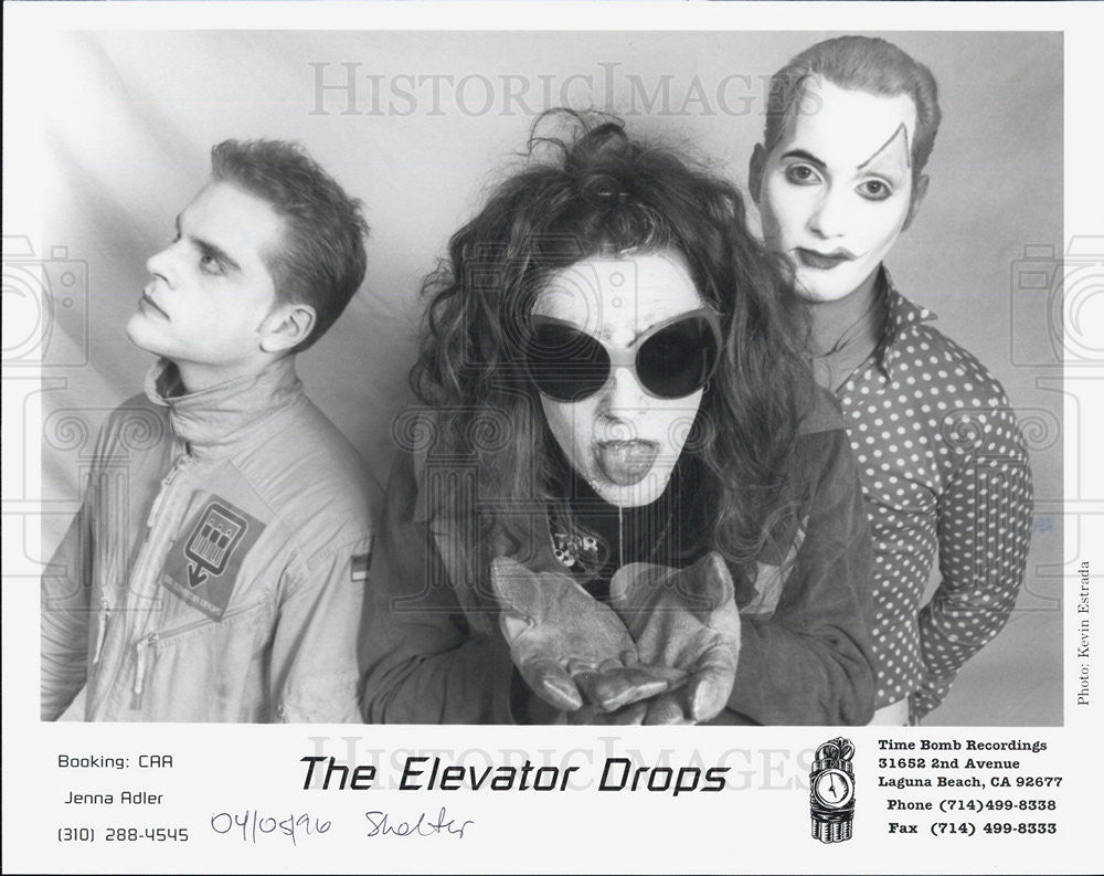 1996 Press Photo The Elevator Drops Musicians Singer band Entertainers - Historic Images