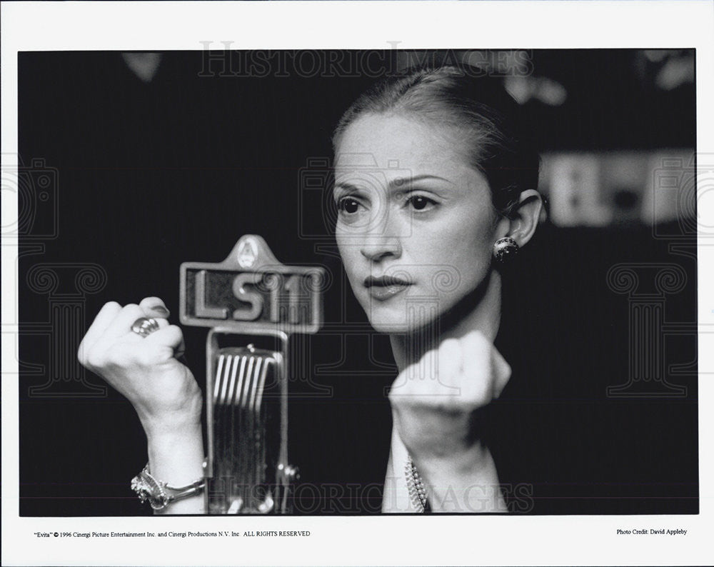 Press Photo Singer Musician Madonna in Evita - Historic Images