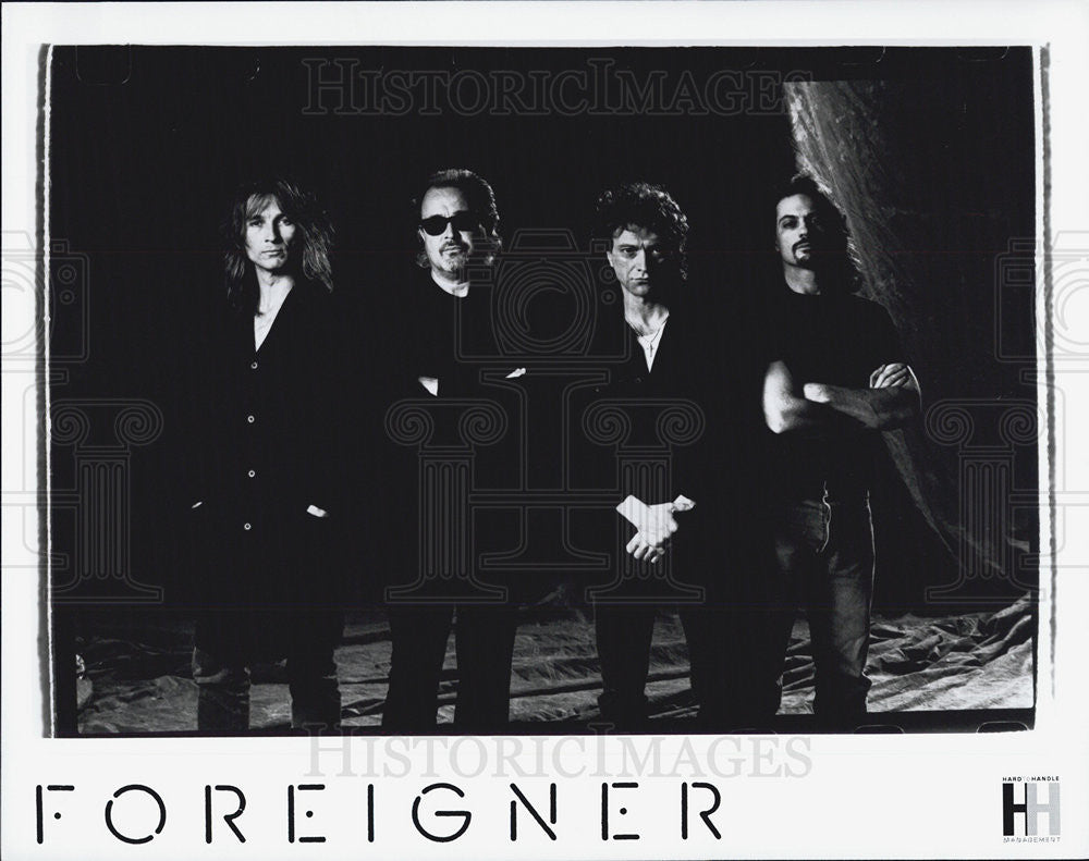Press Photo Entertainers Musicians band Recording Artist Foreigner - Historic Images