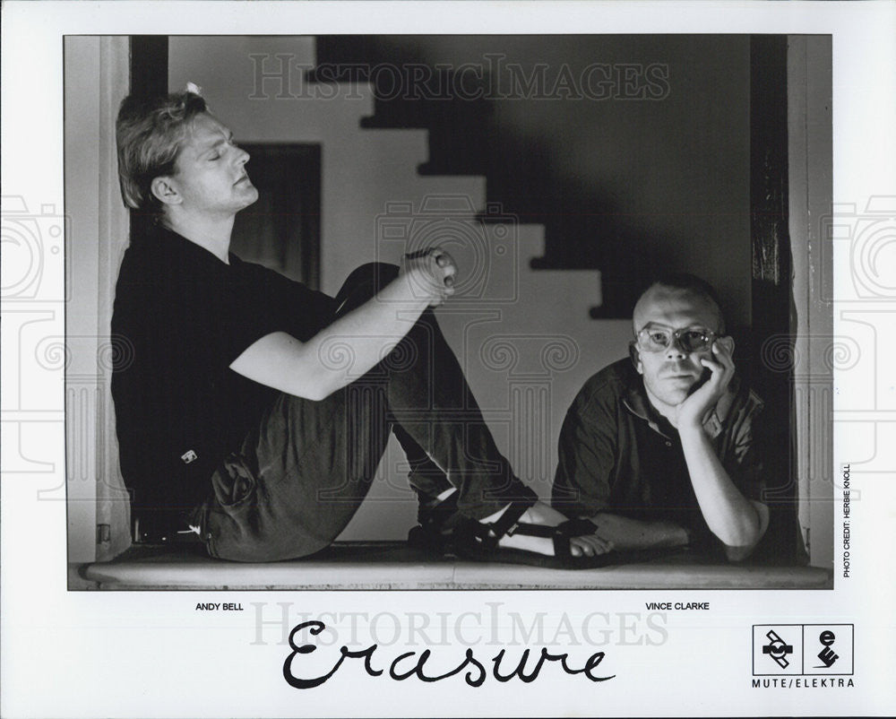 Press Photo Mute/Elektra Present Erasure Andy Bell and Vince Clarke - Historic Images