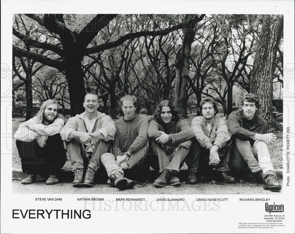 1995 Press Photo EVERYTHING Steve Van Dam Nathan Brown Mark Reinhardt - Historic Images