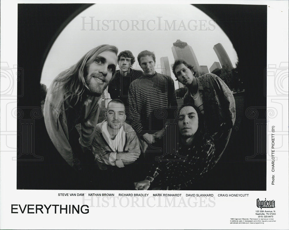 1995 Press Photo EVERYTHING Steve Van Dam Nathan Brown Richard Bradley - Historic Images