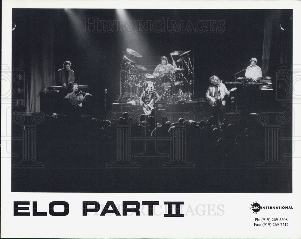 Press Photo Elo Part II Musicians Band Entertainers - Historic Images