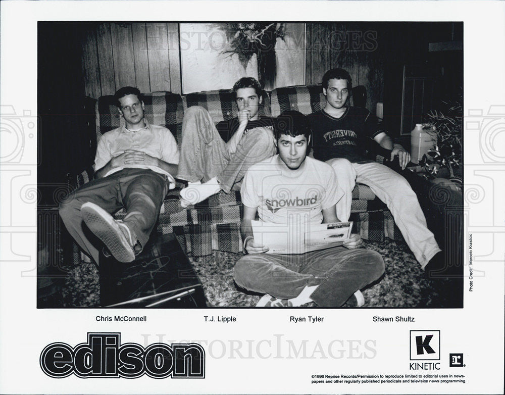 1996 Press Photo Edison Chris McConnell T.J. Lipple Ryan Tyler Shawn Schultz - Historic Images