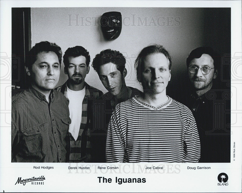 Press Photo NONE Iguanas Hodges Huston Coman Cabral Garrison - Historic Images
