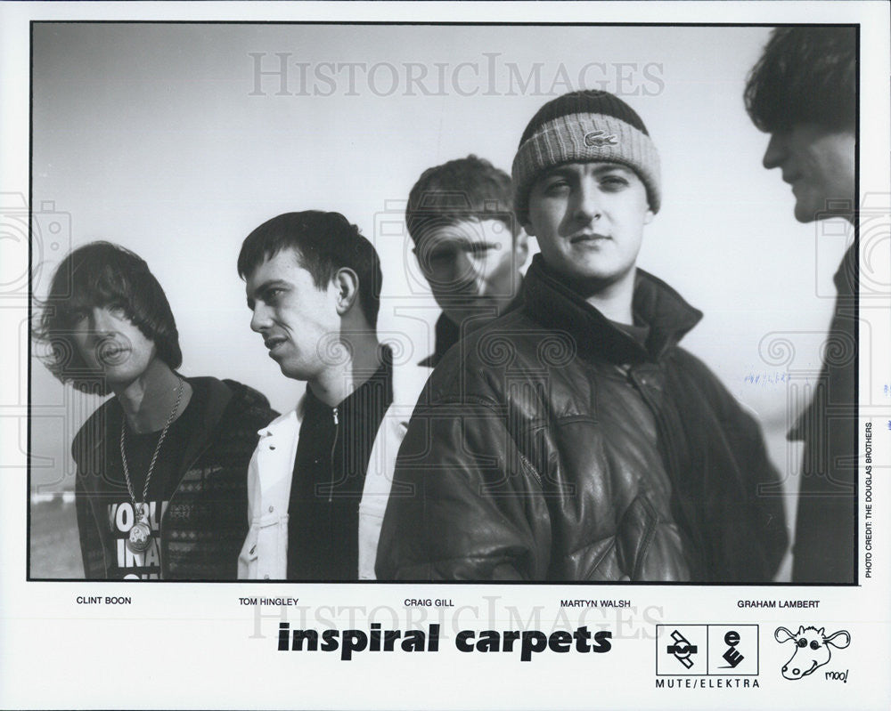 Press Photo Rock Band Inspiral Carpets - Historic Images
