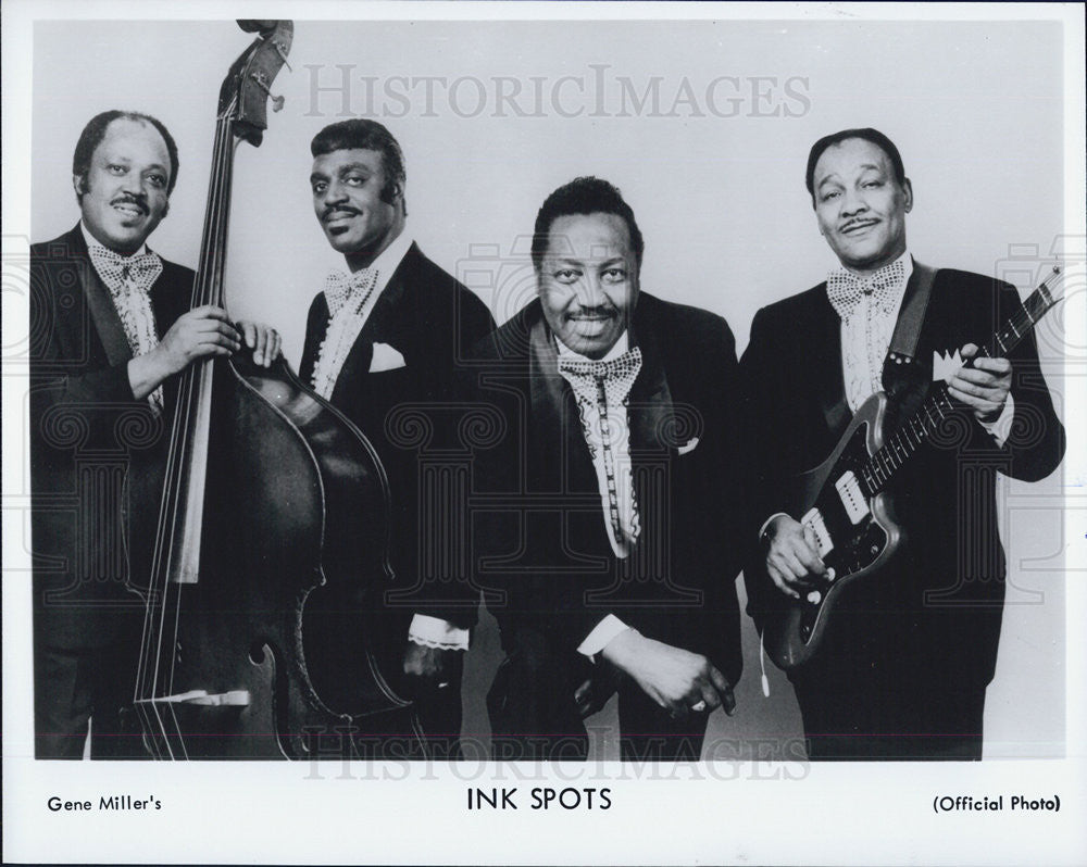 Press Photo NONE Band Gene Miller Ink Spots - Historic Images