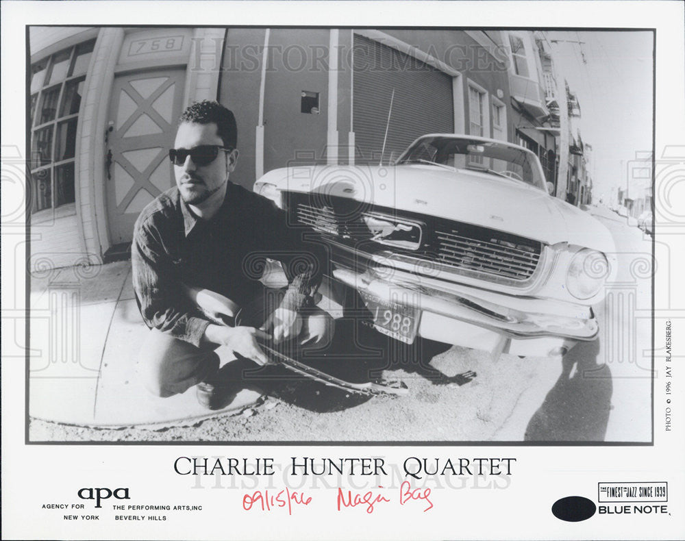 1996 Press Photo Charlie Hunter Quartet Jazz Music Band For Blue Note Records - Historic Images
