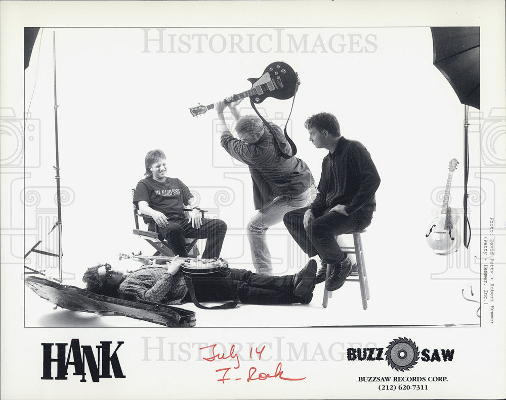 Press Photo Hank Jazz Music Group For Buzzsaw Records Corporation - Historic Images