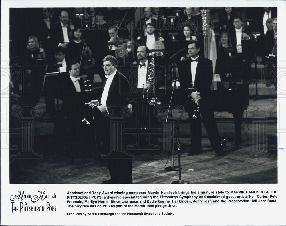 Press Photo Marvin Hamlisch And The Pittsburgh Pops - Historic Images