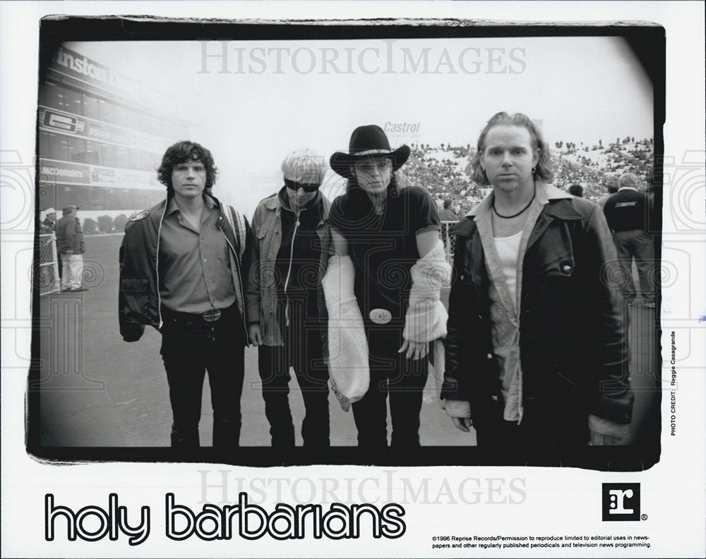 1996 Press Photo Holy Barbarians Rock Music Band For Reprise Records - Historic Images