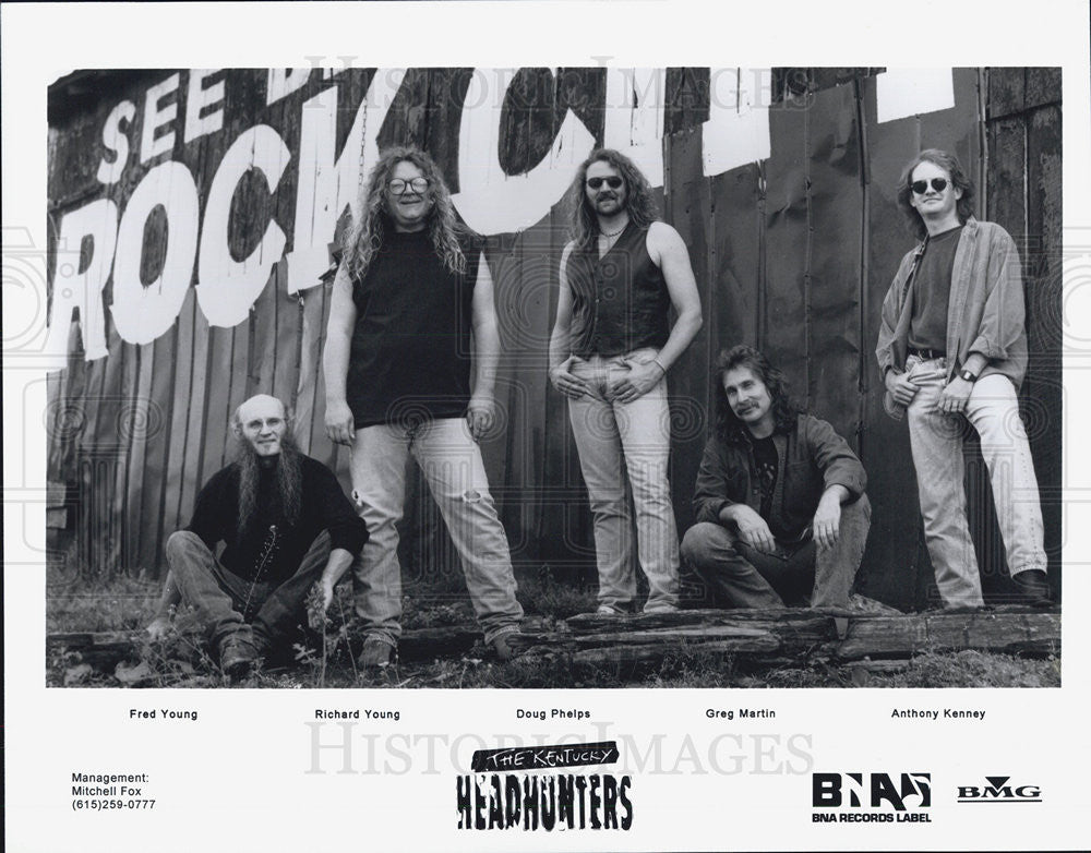 Press Photo Fred Young Richard Doug Phelps Greg Martin Kentucky Headhunters Band - Historic Images