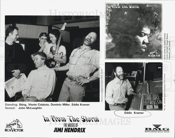 Press Photo Sting Vinnie Colaiuta Dominic Miller Eddie Kramer John McLaughlin - Historic Images