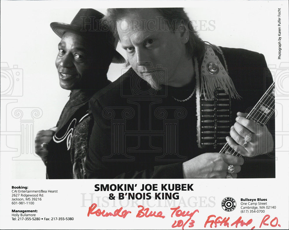 Press Photo Smokin' Jow Kubek & B'Nois King - Historic Images
